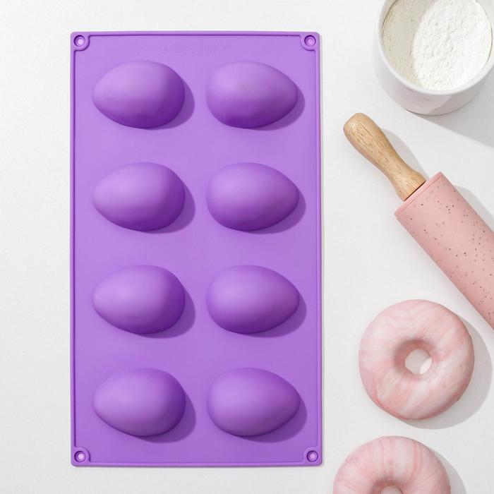 """Baking dish, """"Eggs"""", 8 cells, 28х17х1,5 cm"""