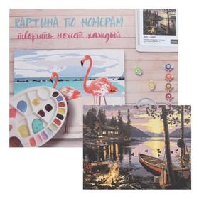 Картина по номерам «Дом у озера» 40х50 см