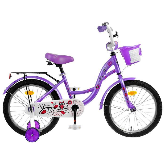 "Велосипед 14"" Graffiti Premium Girl RUS, цвет сиреневый"