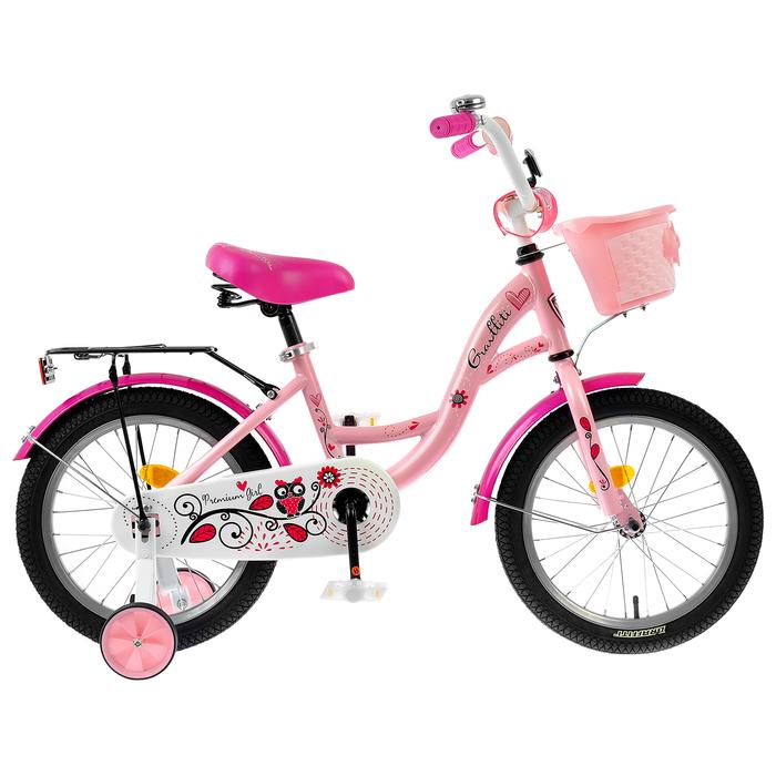 "Велосипед 16"" Graffiti Premium Girl RUS, цвет розовый"