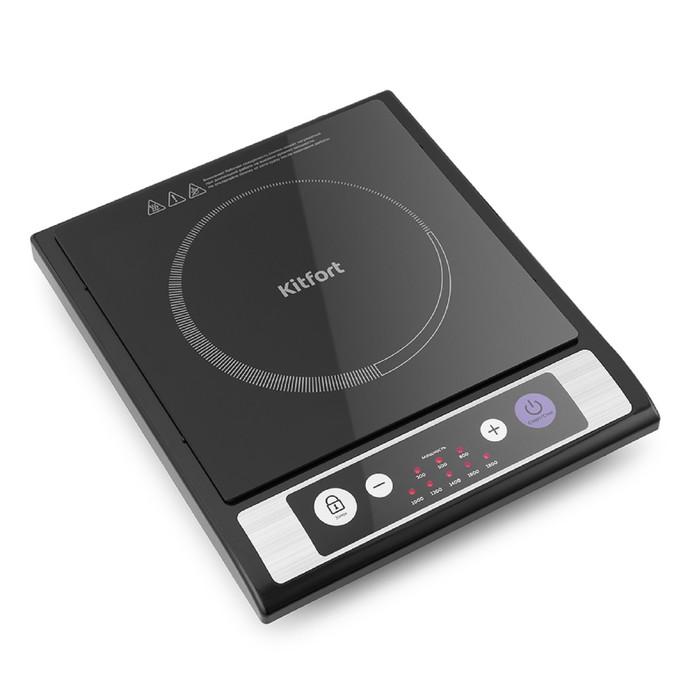 Плитка индукционная Kitfort КТ-107, 1800 Вт, 1 конфорка, 8 режимов, кнопки, чёрная