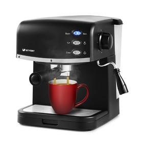 Кофеварка Kitfort КТ-718, рожковая, 850 Вт, 1.5 л, чёрная