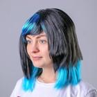 "The wig ""Cascade Mix"" Black-blue / 1 piece/ 080-W"