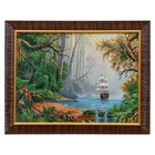 """F281-30x40 Painting of the tapestry """"the Ship in the fairy forest"""" (35x45)"""