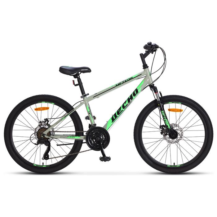 "Велосипед 24"" Десна Метеор MD, V010, цвет серый/салатовый, размер 14"""