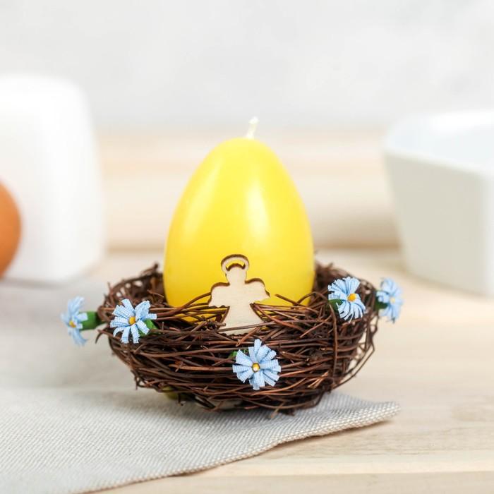 Свеча-яйцо в гнезде «Ангел» - фото 798481820
