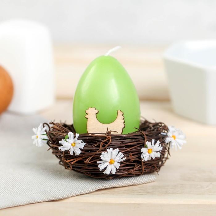 Свеча-яйцо в гнезде «Курочка» - фото 798481828