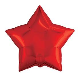"""Шар фольгированный 9"""" «Звезда», без клапана, набор 5 шт., цвет красный"""