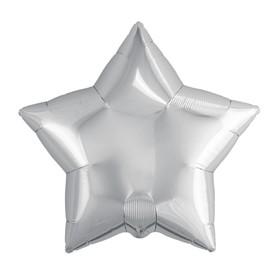 """Шар фольгированный 9"""" «Звезда», без клапана, набор 5 шт., цвет серебро"""