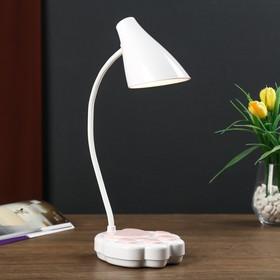 Лампа настольная сенсорная 69450/1 LED 7Вт 3 режима USB АКБ белый-розовый 12х11,5х42 см