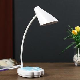 Лампа настольная сенсорная 69451/1 LED 7Вт 3 режима USB АКБ белый-голубой 12х11,5х42 см