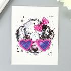 "Tattoo on body color ""Dalmatians glasses heart"" 10x8 cm"