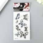 """The tattoo on the body color/black """"Butterfly"""" MIX 13h6 cm"""