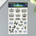 """The tattoo on the body colored """"Butterfly/Crown"""" MIX 16х10 cm"""
