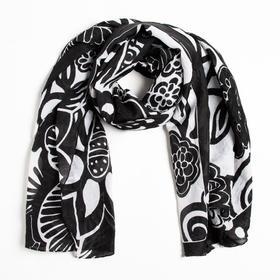 Парео текстильное 41 цвет чёрно-белый, р-р 110х150 Ош