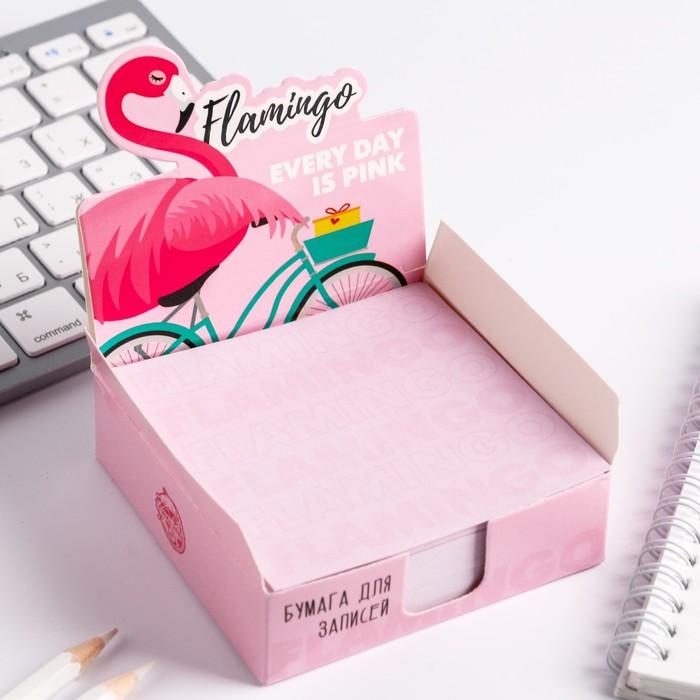 """Бумага для записей в коробке """"Фламинго"""" 250 листов 9 х 9 см - фото 798482374"""