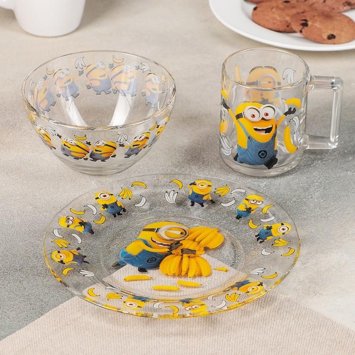 Набор посуды детский «Миньоны», 3 предмета
