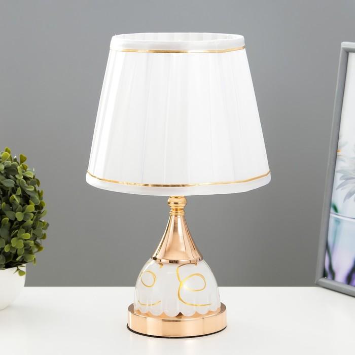 Лампа настольная с подсветкой 58087/1 1х40Вт Е27 золото 20х20х36 см - фото 7931435