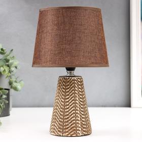 Настольная лампа 08936/1 E14 40Вт кофе 17х17х30 см