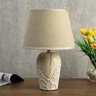Лампа настольная 08943/1 E14 40Вт бежевый 21х21х35 см - фото 7931445