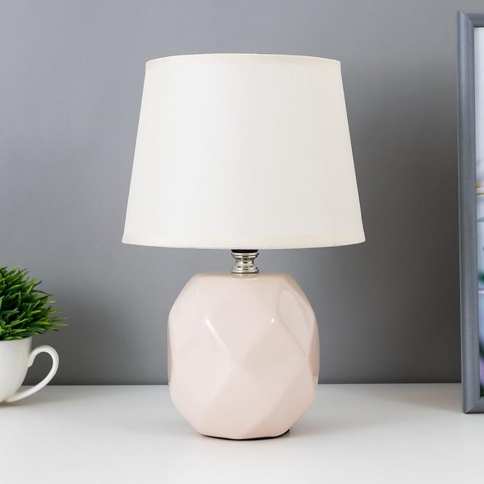 Лампа настольная 08946/1 E14 40Вт бежевый 17х17х28 см - фото 798482729