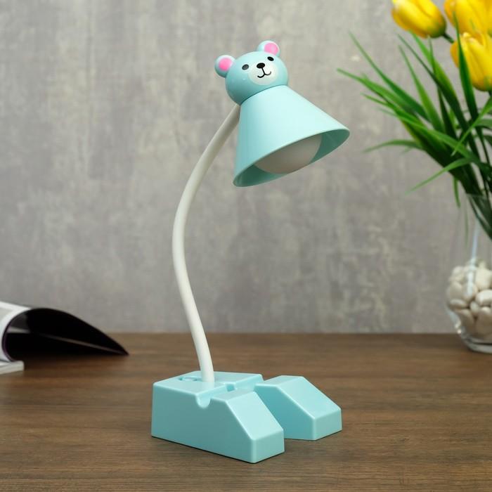 Лампа настольная 23761/1 LED 4Вт USB АКБ синий 18х9,5х30 см - фото 798482760
