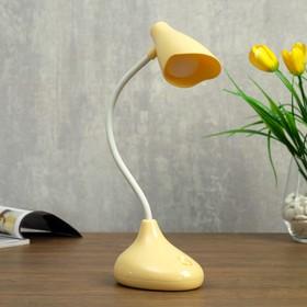 Лампа настольная 23767/1 LED 4Вт USB АКБ бежевый 9,5х8х33 см