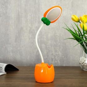 Лампа настольная 23775/1 LED 4Вт USB АКБ оранжевый 6х7,2х34 см