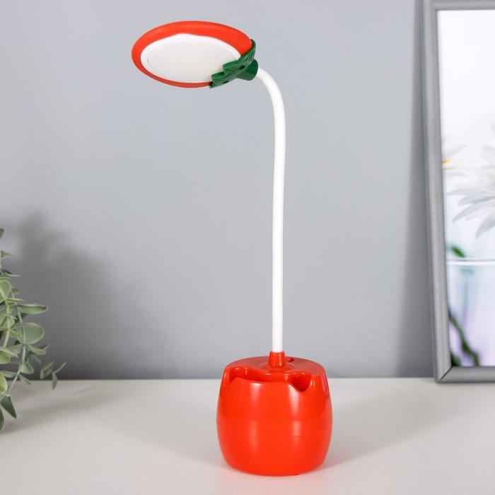 Лампа настольная 85291/1 LED 3Вт USB AKB красный 9х7х36 см - фото 798482911