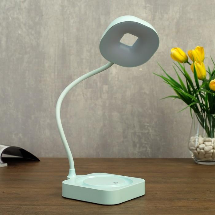 Лампа настольная сенсорная 85300/1 12хLED 3Вт 3 режима диммер USB AKB лазурный 11х12,8х35 см   47348 - фото 798482935