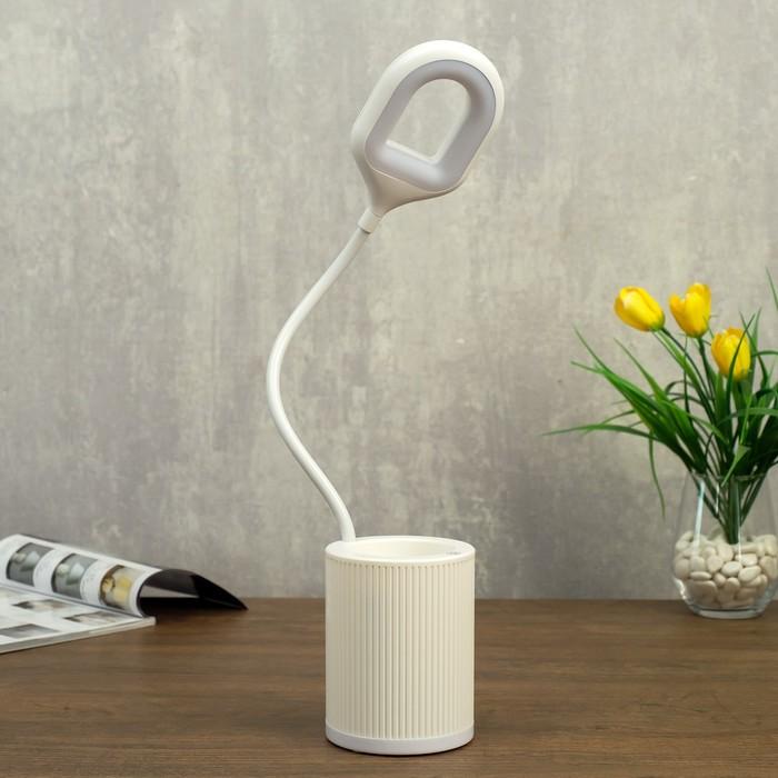 Лампа настольная сенсорная 85304/1 24хLED 3Вт 3 режима USB AKB белый 8,5х8,5х43 см - фото 798482963