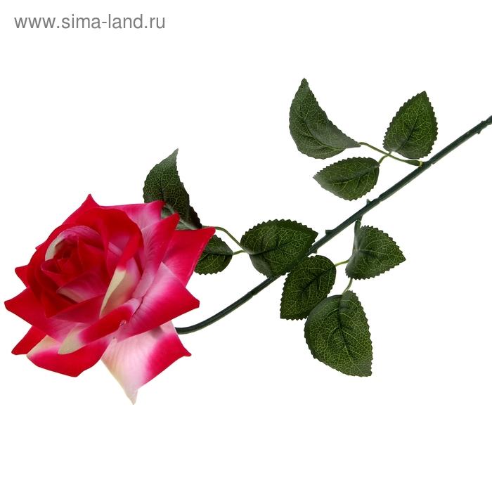 """Цветок искусственный """"Роза бархатная"""" малиновая"""
