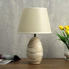 Лампа настольная 32169/1 E14 40Вт белый с золотой патиной 22х22х36 см