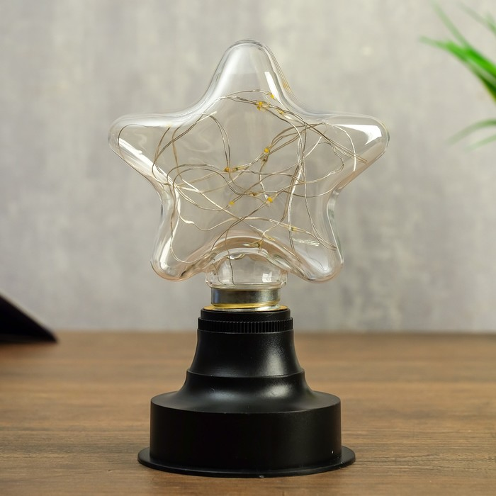 "Ночник ""Звезда"" LED батарейки 2xAAA 10,5х8х16 см - фото 798483174"