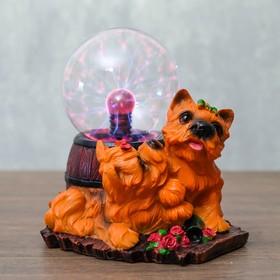 "Плазменный шар ""Собачки с бантиком"" 14,5х14х16,5 см"