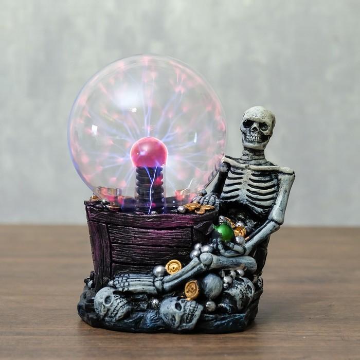 "Плазменный шар ""Скелет"" 13,5х10х16,5 см - фото 798483205"