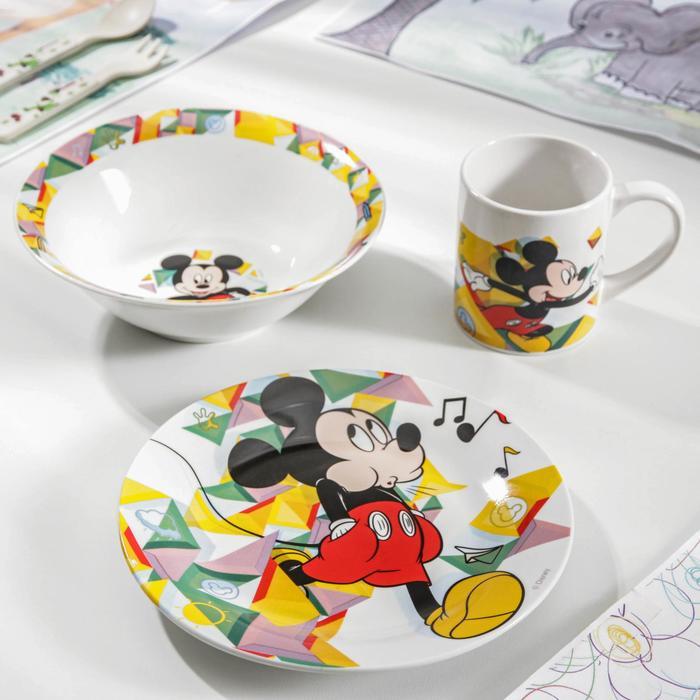 Набор посуды детский «Микки. Цветовой поток», 3 предмета - фото 488784