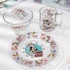 Набор посуды детский «Минни и единорог», 3 предмета - фото 488789
