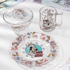 Набор посуды детский «Минни и единорог», 3 предмета