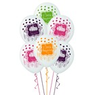 """Шар латексный 14"""" «С днём рождения!», сладкий праздник, набор 5 шт."""