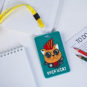 Case, rubber badge, Rock'n Cat 6.5 x 11 cm