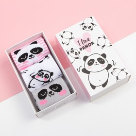"A set of children's socks KAFTAN ""Panda"" R-R 16-18"