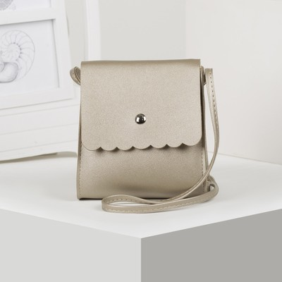 Bag baby Susie, 14*6,5*15cm, DEP flap, long strap, gold