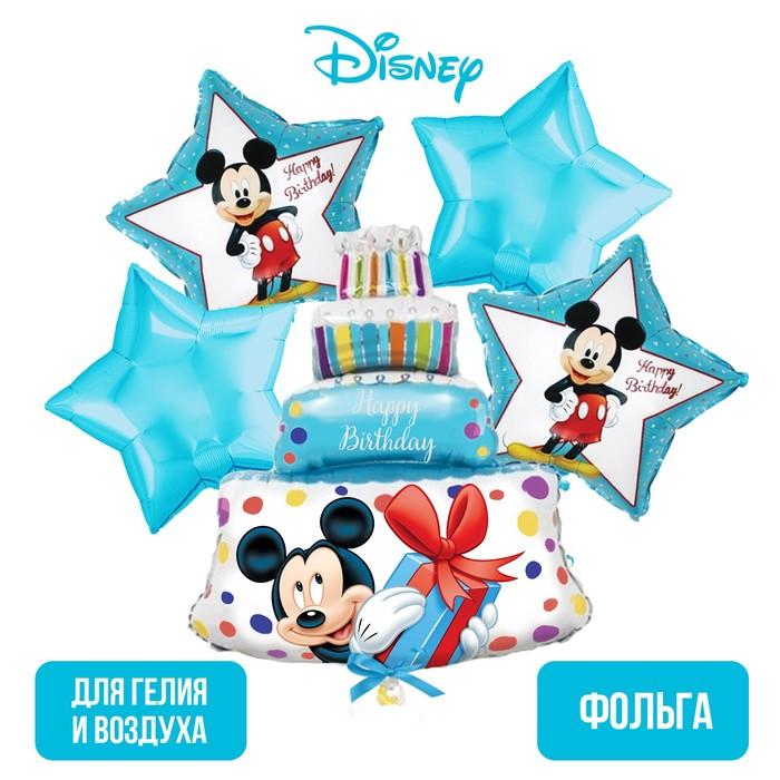 """Набор фольгированных шаров «Happy Birthday», Микки Маус 36"""" - фото 798483517"""