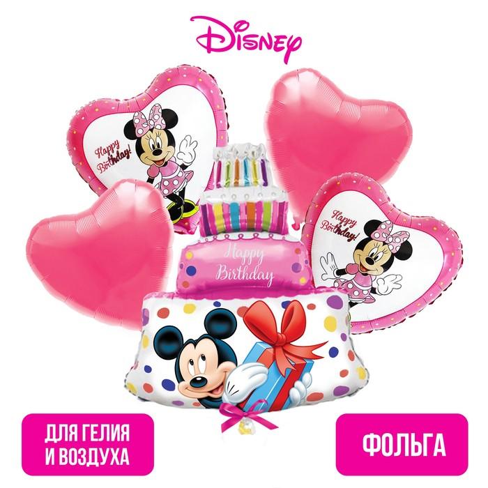 """Набор фольгированных шаров «Happy Birthday», Минни Маус 36"""""""