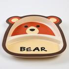 Набор бамбуковой посуды «Мишка», 5 предметов: тарелка, миска, стакан, вилка, ложка - фото 107059235