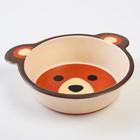 Набор бамбуковой посуды «Мишка», 5 предметов: тарелка, миска, стакан, вилка, ложка - фото 107059237