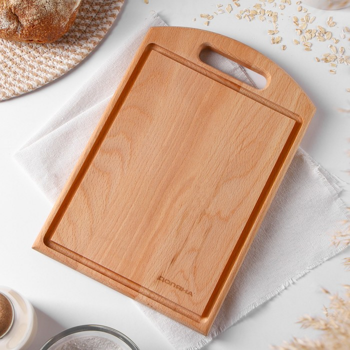 """Cutting Board """"Bukovsky"""", 30×20×1.5 cm, with handle and Krovostok"""
