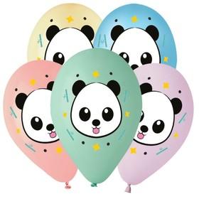 """Шар латексный 14"""" «Панда», 5 цветов, набор 25 шт."""