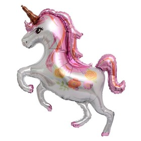 "Balloon foil 47"" ""Floral unicorn"""